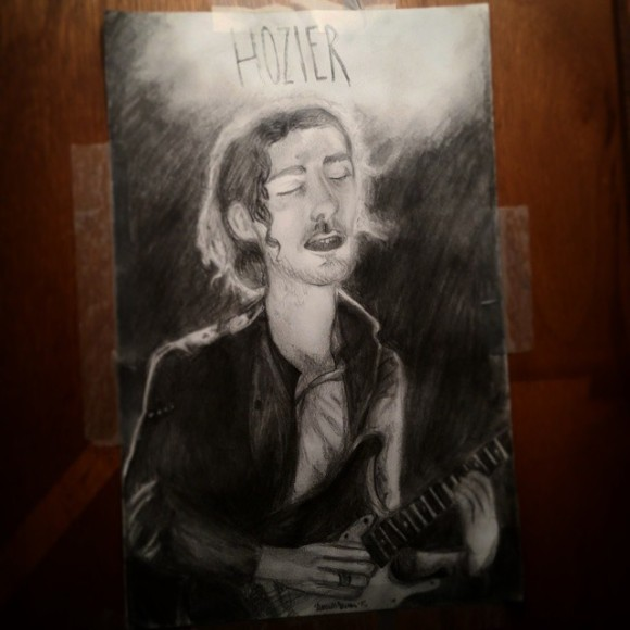 This is where we start. A sketch of the wonderful @hozier. This was drawn in about 2 hours in the same day with a regular HB writing pencil. I used a refrence. Piece done on 3/27/15. #hozier #sketch #pencil