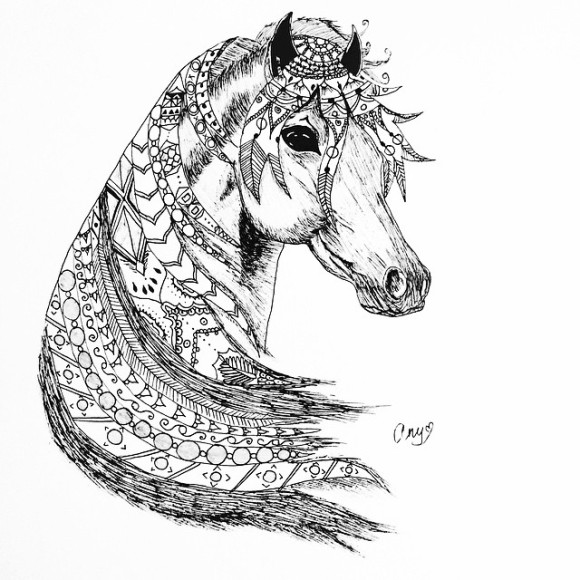 #my #pen #art #myart #penart #aniart #artwork #black #white #blackandwhite #whiteandblack #doodle #doodleart #horse #from #armenia #yerevan …… #music : #hozier - #inthewoodssomewhere