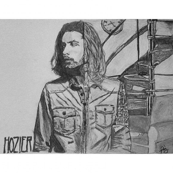 Finished my @hozier drawing! Im pretty happy with how it turned out. I like that I didnt have to draw perfect circles or lines because its supposed to look imperfect. And my OCD was going crazy because the pockets are different sizes, kept having to remind myself its supposed to be two different pictures. Lol! This thing was so stressful.emoji This pic is sorta blurry but I couldn't for the life of me get a clearer one. #Hozier #Pencil #Drawing #AlbumCover #FromEden #TakeMeToChurch #Record #FinallyDone