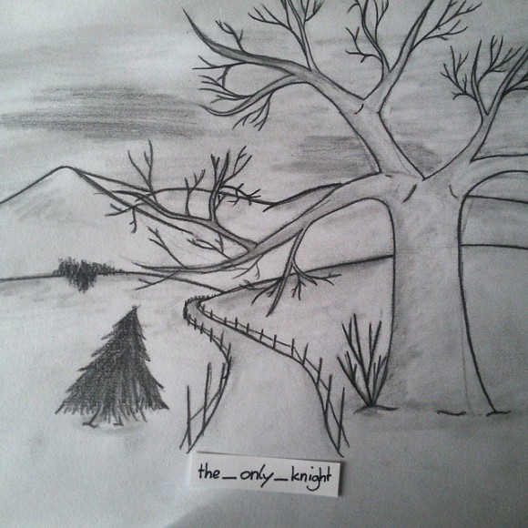 #nature #tree #trail #path #want #to #get #away #world #planet #just #annoying #wanna #leave #depressed #sad #depression #art #scetch #drawing Don't feel really good at the moment...emoji listening to #takemetochurch #hozier and #madworld #garyjules