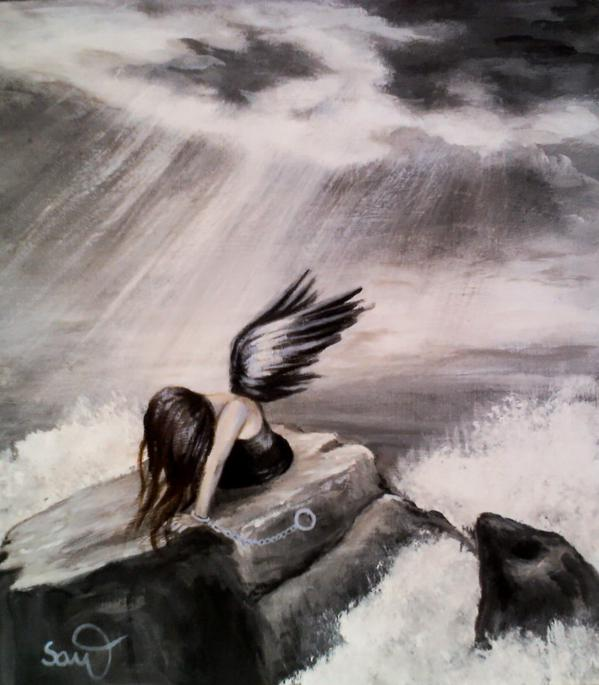 Original painting angel of small death ref shop home active 1