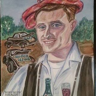 #RoryDoyle Bootlegging Cherry Wine  Sweet Rory has the biggest eyes. Watercolor painting by Rosalba Emmanuel-King  Hope you like it. Thanks for your beautiful music & inspiration